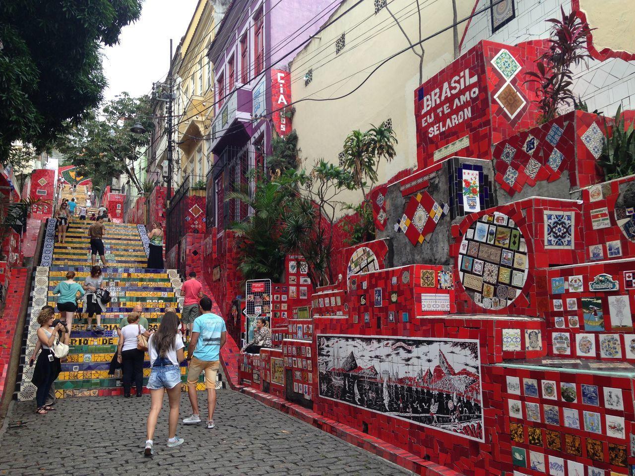 Escadaria Selarón Lapa Rio De Janeiro Brazil