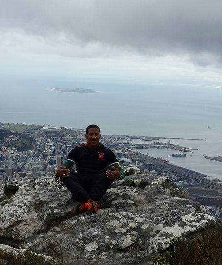 View from the top of Devils peak mountain. Capetownstadium RobbinIsland BeautifulMotherCity Beautifulmothernature LovePeace&Light