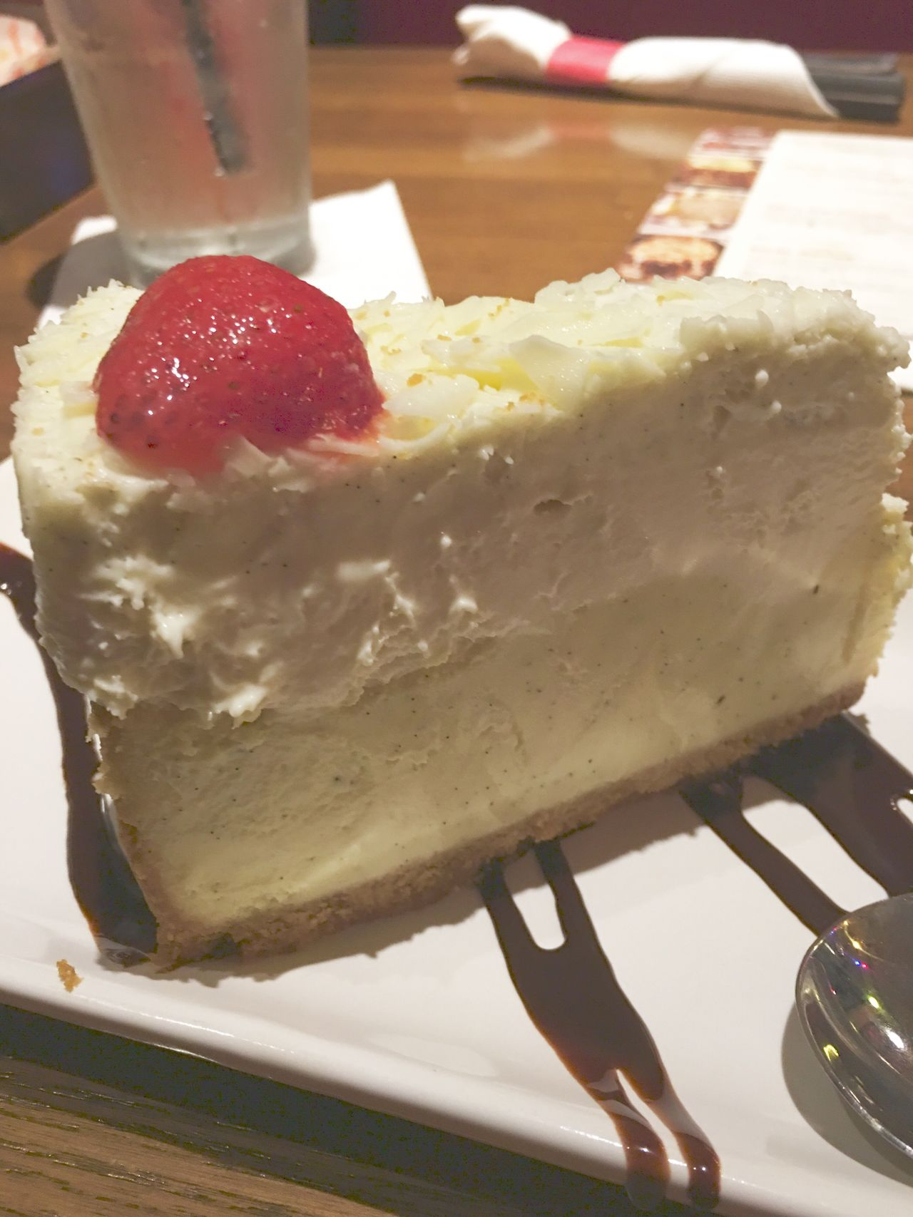 Vanilla Bean Cheesecake From TGI Friday's Near Arundel Mills Mall In Maryland. Sweet Food Food Dessert Indulgence Freshness Temptation Ready-to-eat Unhealthy Eating