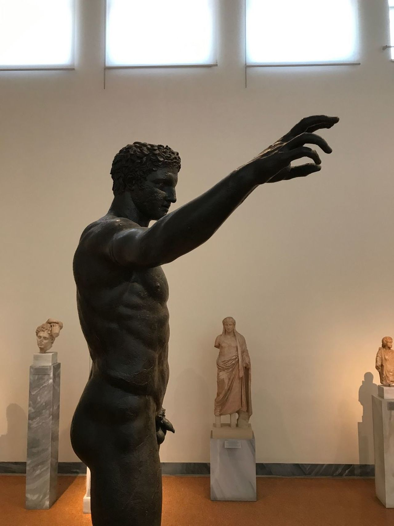 Statue Human Representation Sculpture Male Likeness Art And Craft Female Likeness Indoors  Museum No People Day