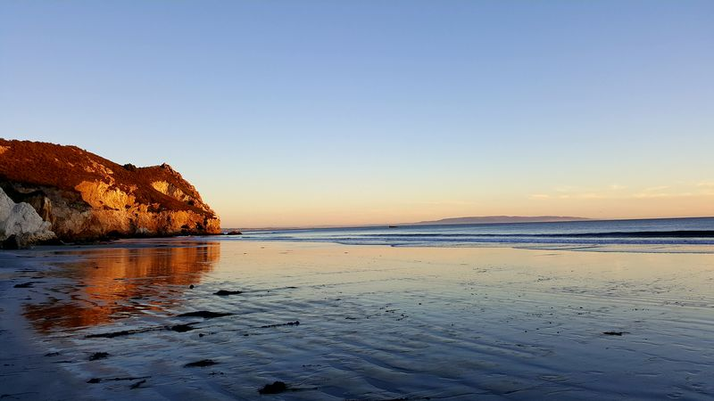 Avila Beach CA Samsung Galaxy Note 5 EyeEm Selects Beach Sea Sunset Nature Water Sky Horizon Over Water