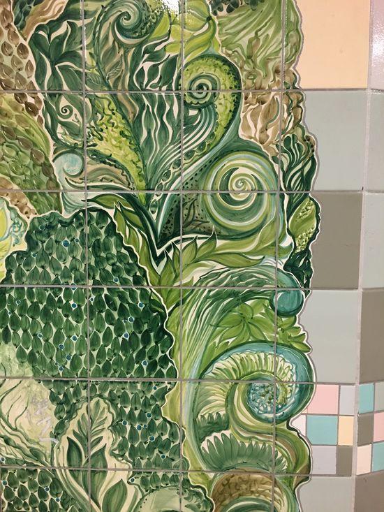 Art Tiles Turmstrasse Berlin Green