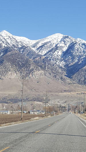 Wasatch Mountains overlook the town of Honeyville, Utah. Utah Snow The Way Forward Landscape Snowcapped Mountain No People Beauty In Nature Outdoors Scenics