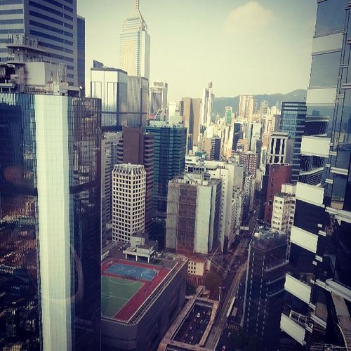 High above the ground. At The Upper House Hong Kong. Luxury Travel Hotel