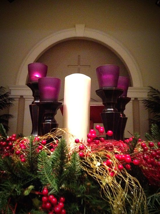 First Sunday Of Advent Lighting The First Advent Candle Advent At Church