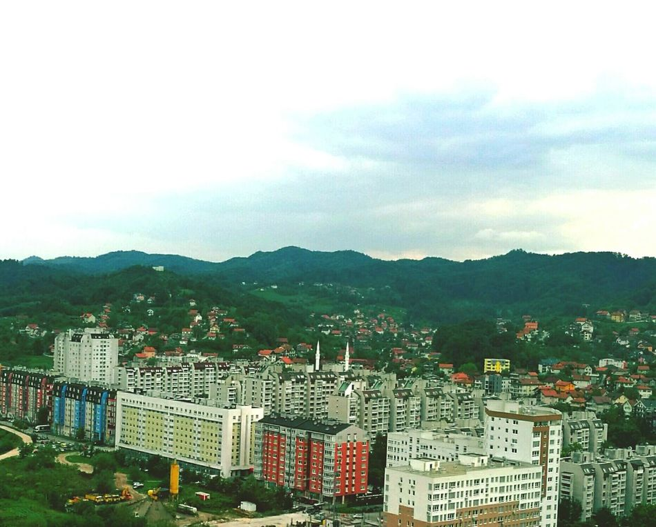 High Angle View Architecture Tuzla,Bosnia And Herzegovina Goranvonkarkin Enjoying Life Mosque Architecture Mountain City Built Structure Building Exterior Cityscape High Angle View Tall - High Mountain Range Tower Sky Development Cloud - Sky Crowded Residential Building Office Building Skyscraper Growth Travel Destinations
