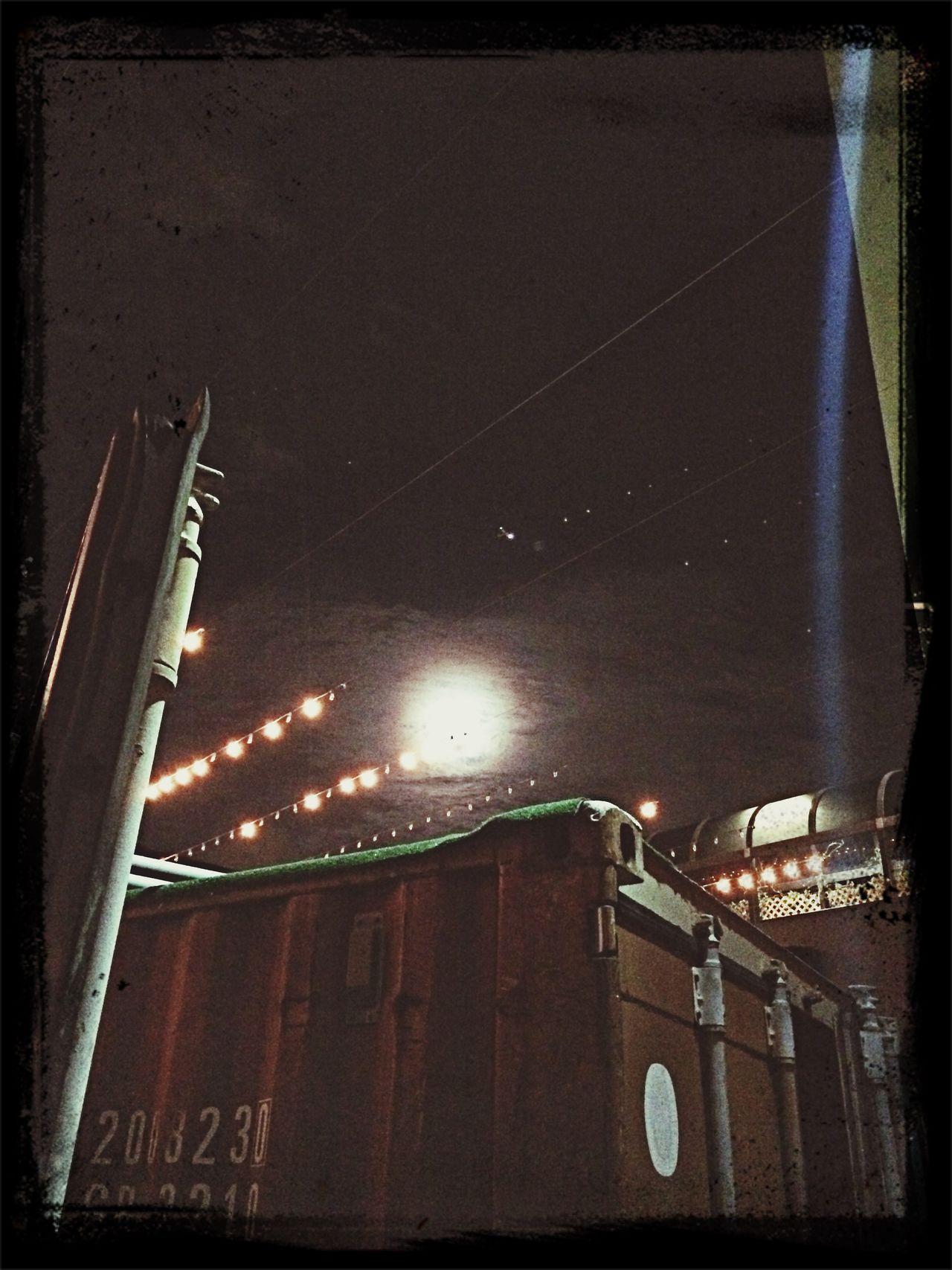Moon over micro theater Miami