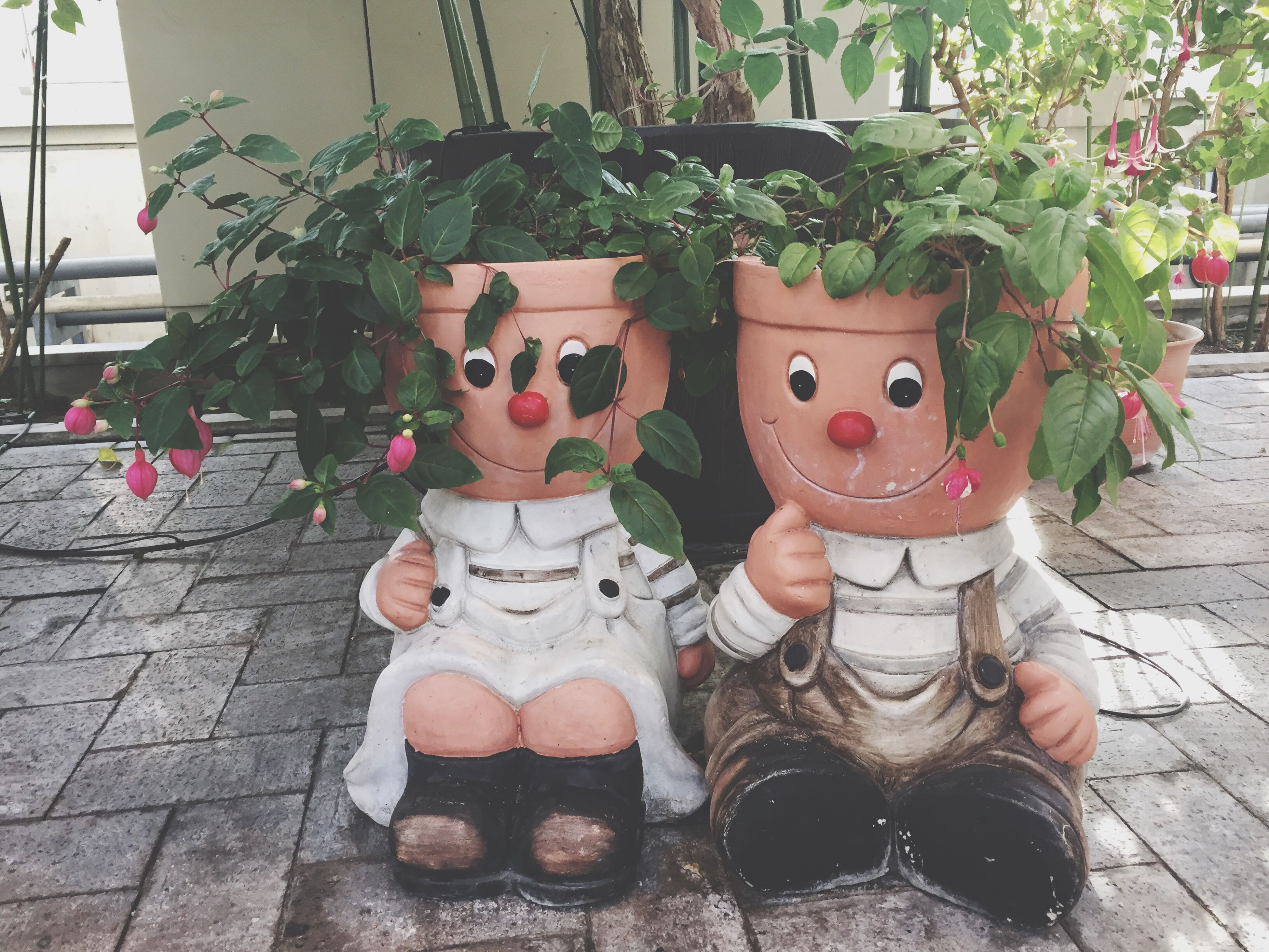 art and craft, human representation, hanging, no people, close-up, anthropomorphic face, nature, day, tree, outdoors