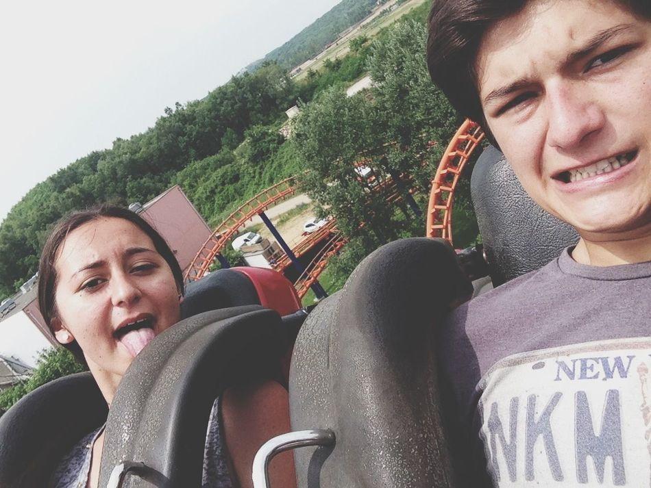 Friends Park Riding Roller Coasters