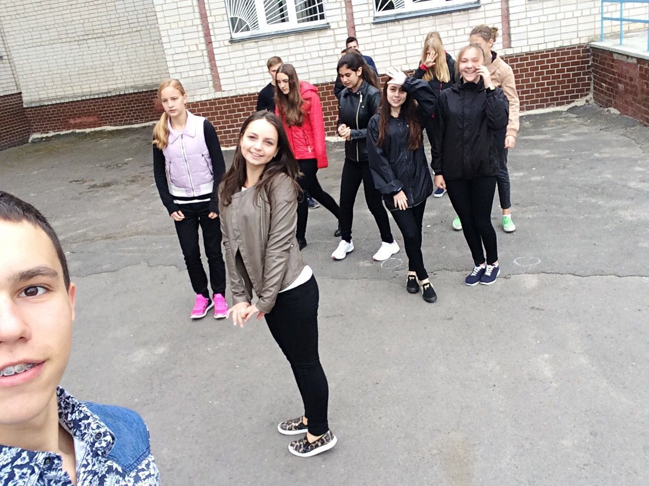The Color Of School Lifestyles Leisure Activity Young Adult Casual Clothing Young Women Togetherness Friendship Full Length Person Bonding Standing Street Looking At Camera Day Well-dressed Outdoors Friend Handsome