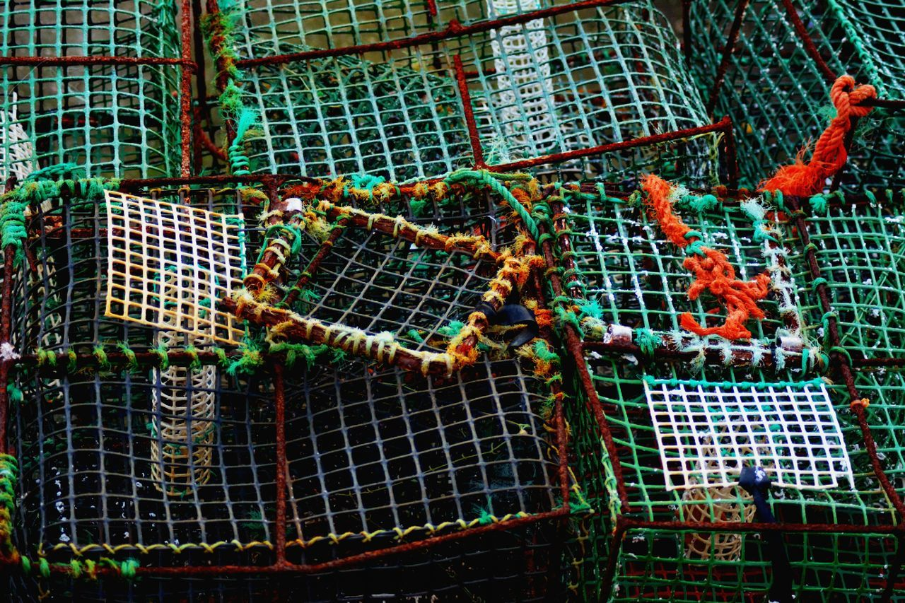 Cage Netting No People Fishing Net Abandoned Outdoors Day Fish Fishing Fishing Time Sea Green Cascais Cascais Portugal Portugal
