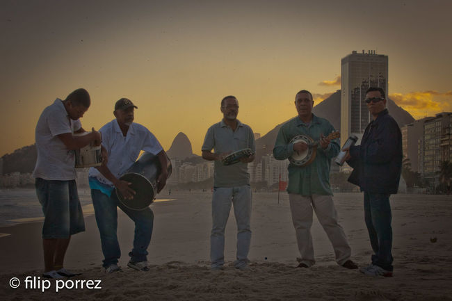 Band Beach Brazil Copacabana Enjoyment Friendship Men Music Real People Rio De Janeiro Standing Sunset