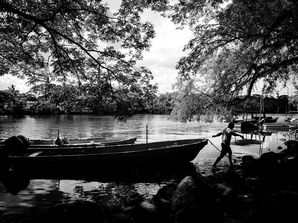 My Year My View Nature Water Transportation Lake Blackandwhite Streetphotography Street Photography SUVA FIJI ISLANDS Black & White