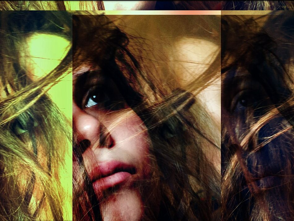 Disturbed. Portrait Woman Girl Creative Abstract EyeEm Best Edits Powerful Emotions Sad Expression Disturbia Raw Popart Green Motion Movement Belle Jolie Hair Women Who Inspire You Welcomeweekly Abstract Color Pivotal Ideas First Eyeem Photo