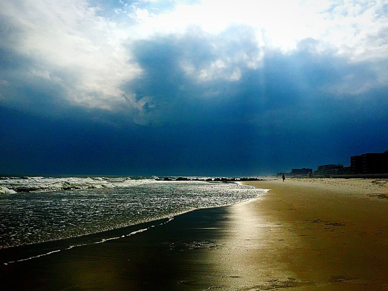 sky, sea, water, beauty in nature, scenics, cloud - sky, tranquility, beach, tranquil scene, nature, outdoors, no people, sand, day, horizon over water