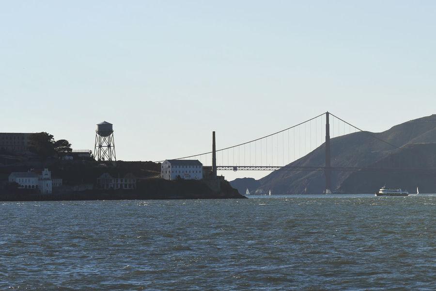 Golden Gate Bridge Architecture Blue Bridge Bridge - Man Made Structure Building Exterior Built Structure Clear Sky Connection Copy Space Day Nature No People Outdoors River Sky Water Waterfront