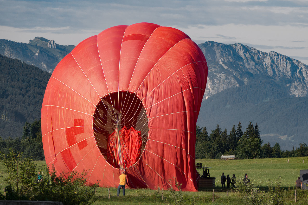 hot air balloon landing Balloon Hot Air Balloon Hot-air Balloon Landing Mountains