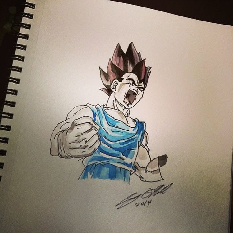 Over 9000!!! Vegeta DBZ Saiyan 9000 over9000 dragonballz Toronto sketch drawing doodle pencil art cartoon instaart artist illustration watercolor painting instaart
