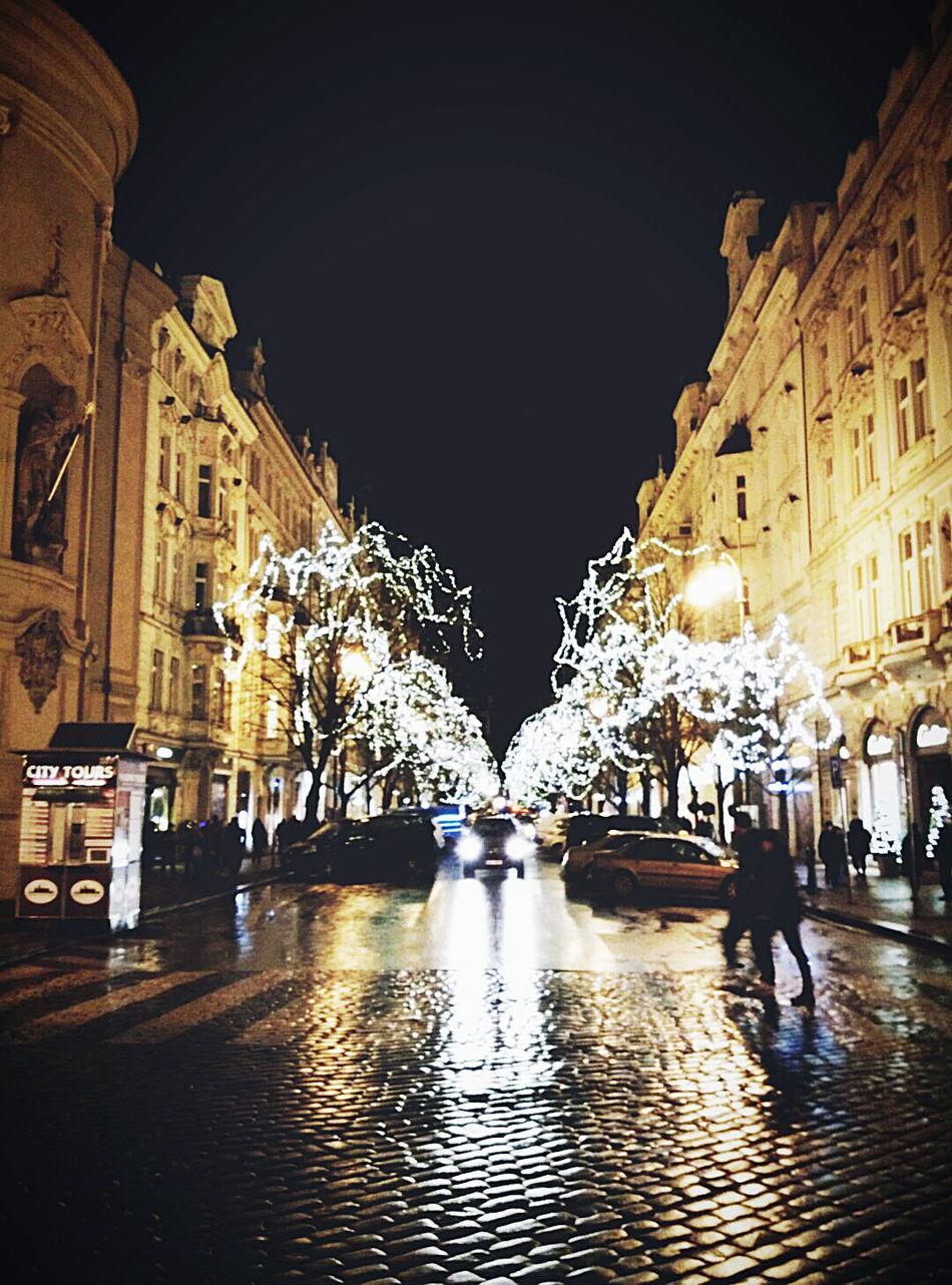 christmas shot Christmas Time City Street Night Lights Nightphotography Old Town Prague Old Town Square Prague Czech Republic