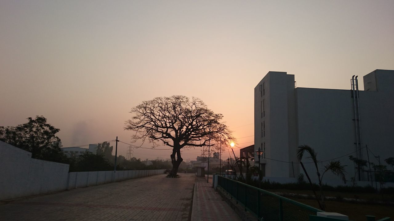 Architecture Building Exterior Day No People Outdoors Sky Sunset The City Light The Way Forward Tree
