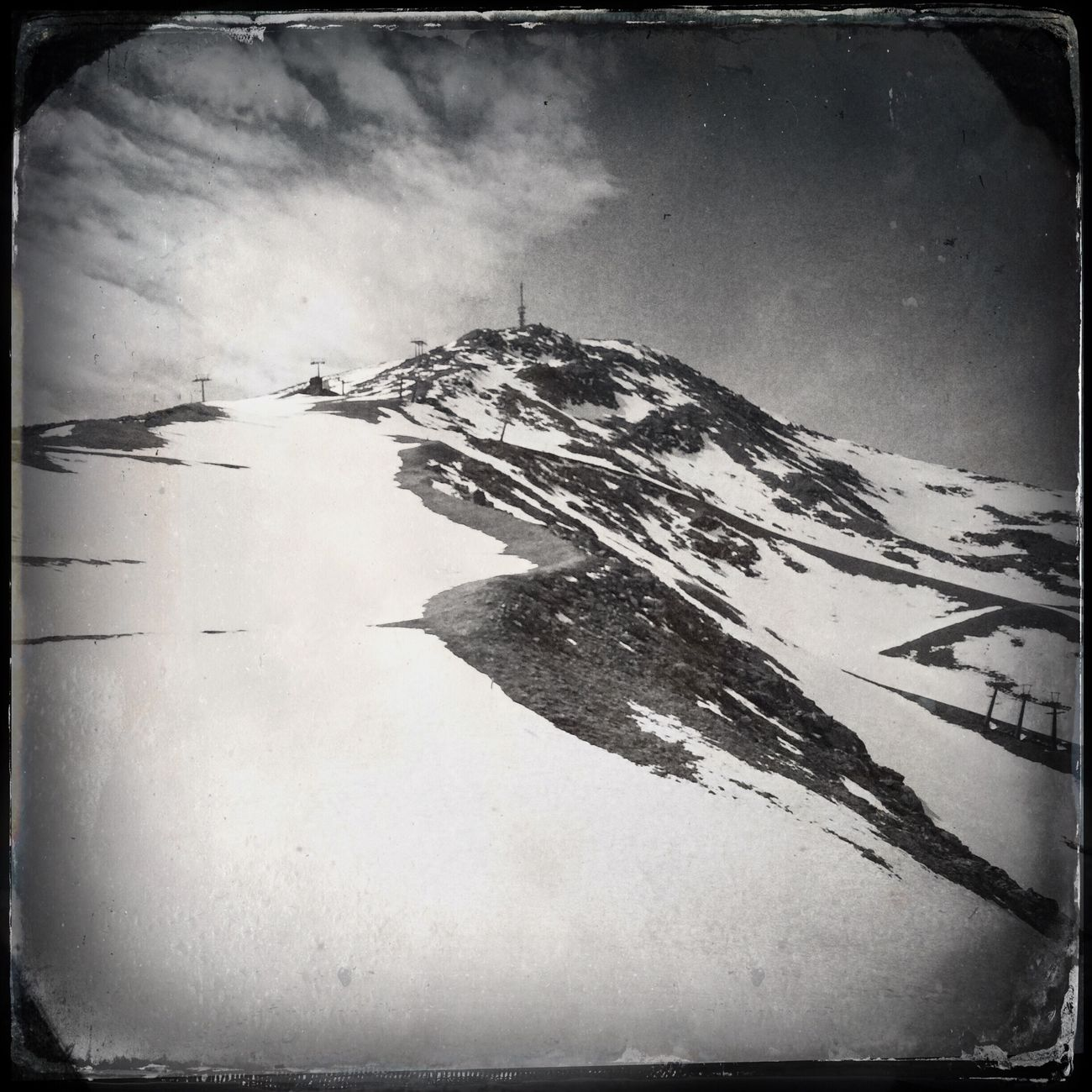 Getting to the top of the mountain Blackandwhite Hipstamatic The_guido