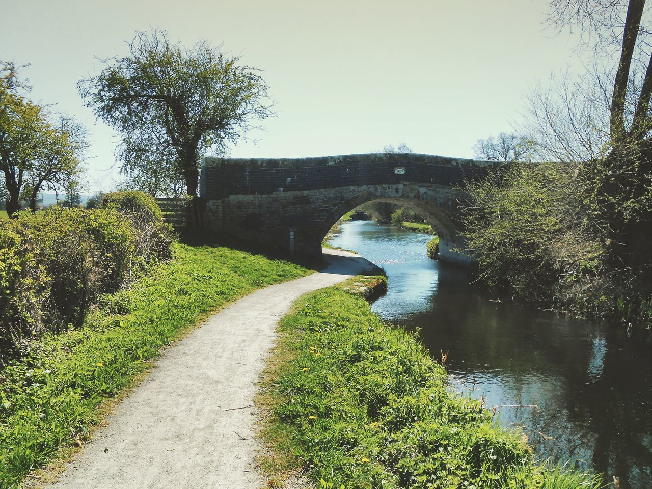 We went for a gentle Saturday walk but ended up doing all 14 miles to another town... Canal Footpath Powys Bridge Bridges Spring Water Newtown Powys Sunshine Welshpool