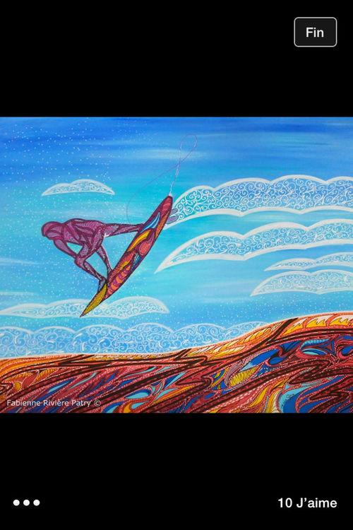 Painting Surf Surfart Posca Sea Ocean Wave Art Graffiti