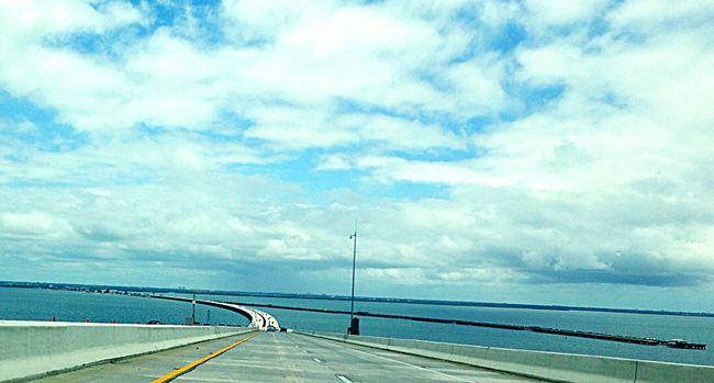 Sunshineskywaybridge Sea And Sky Blue Divingintohorizon Gulf Of Mexico Stpetersburg Florida Life