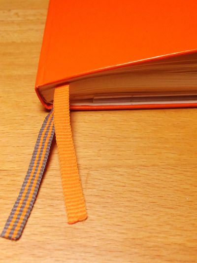 Mein Notizbuch und Kalender. My Notebook And Calendar, Diary. Paper Wood - Material No People Table Close-up Office Supply Indoors  Writing Instrument Day Orange Color