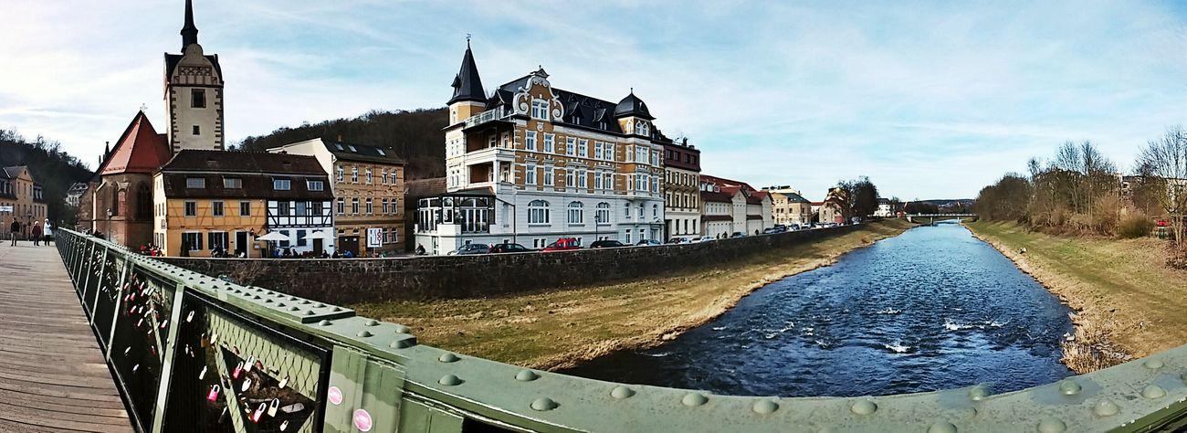 Gera Panorama Haus Am Fluss Weisse Elster