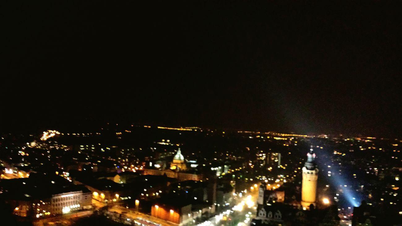 Nature Himmelskunst Himmel Leipzig Uniriese Nachtaufnahme Nacht Lichter Der Stadt