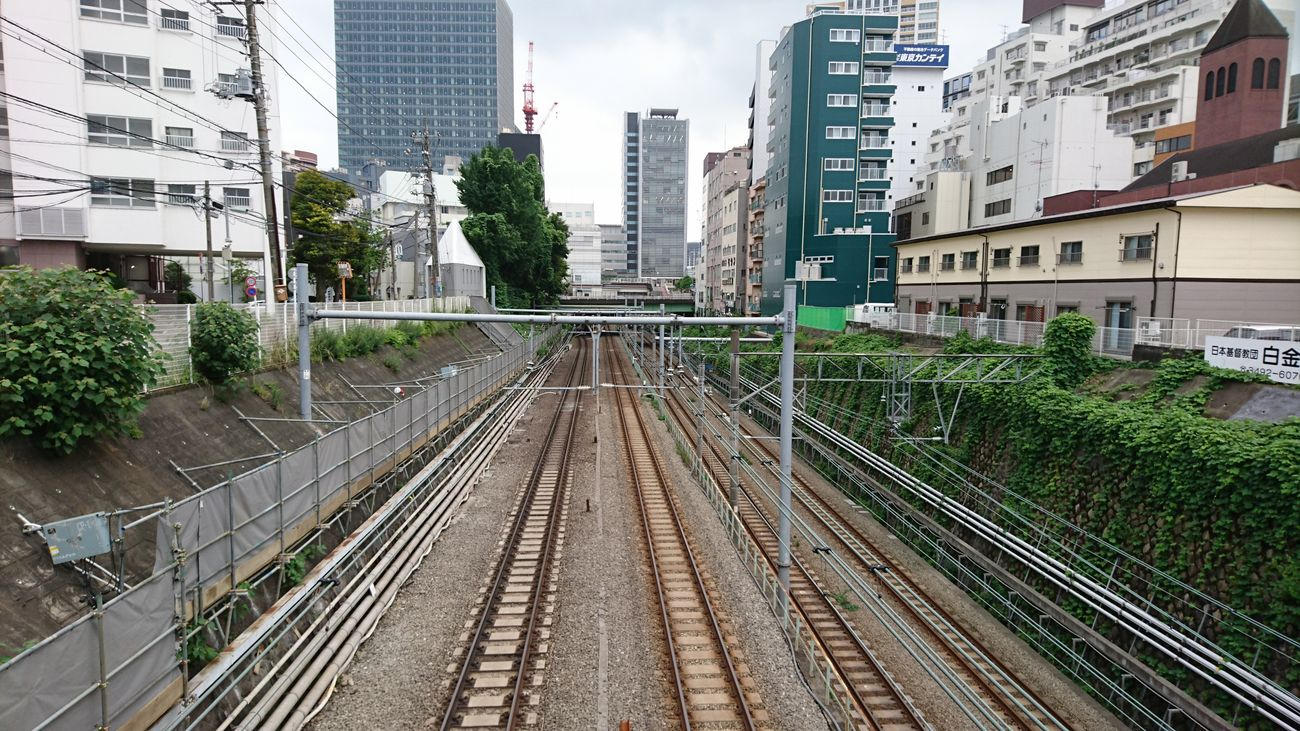 Subway Japan Tokyo,Japan Train Station Train Bridge Train LINE Parallel Lines Pallalel