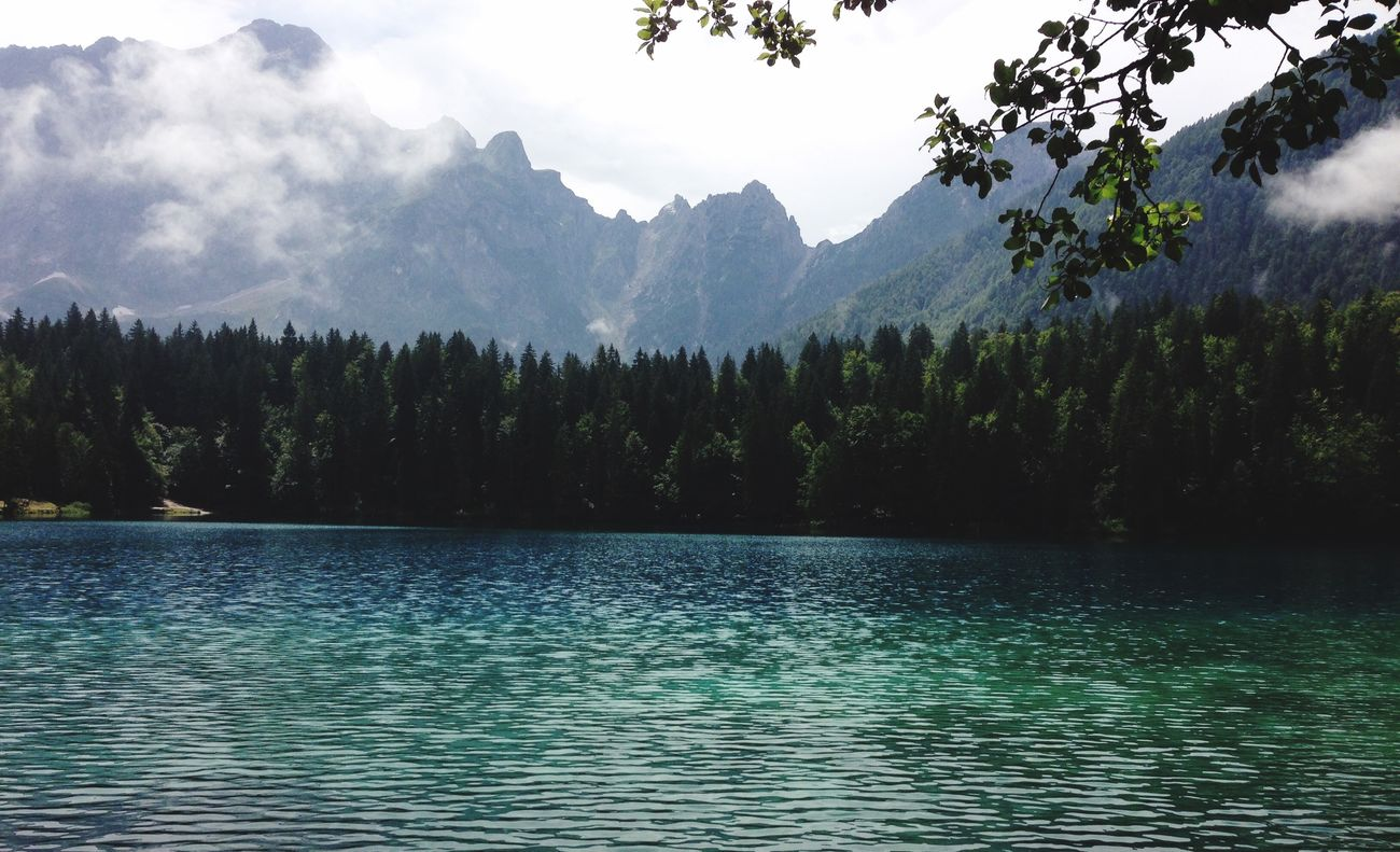 Nature Tranquility Mountain Water Lake Tree Cloud - Sky