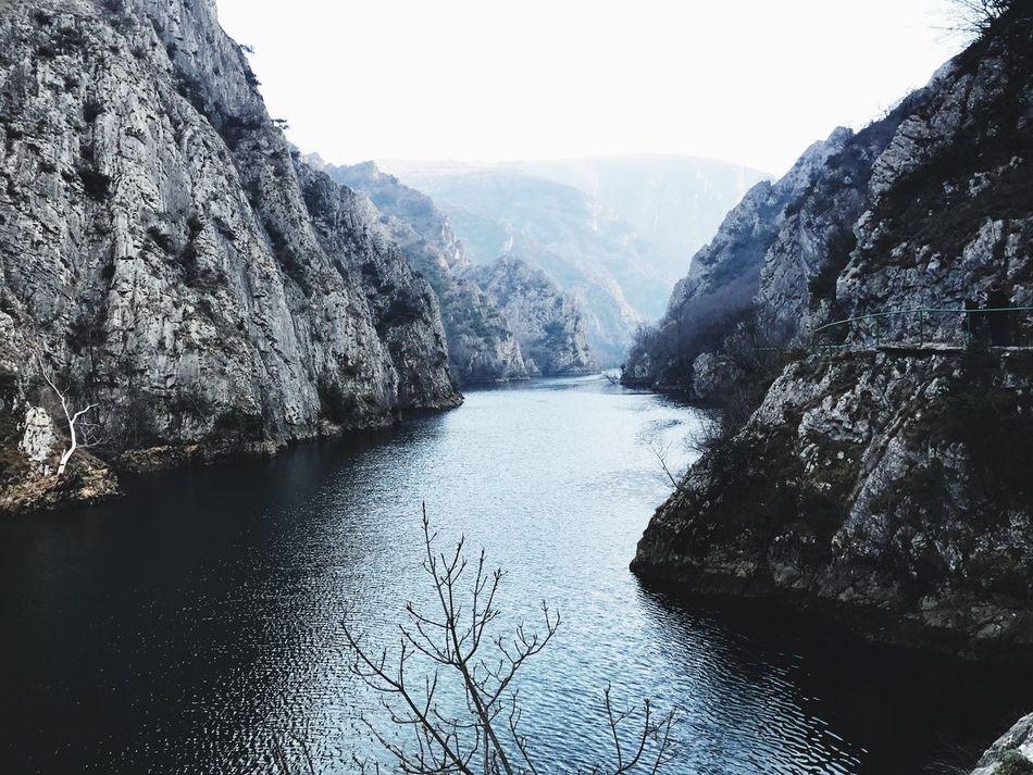 Mountain Nature Beauty In Nature Water Lake Canyon Macedonia Skopje