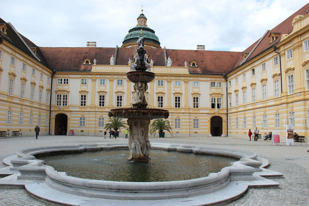 Abbey Architecture Austria Building Fountain History Melk Tourism Travel Destinations Trip