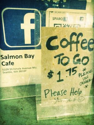 Coffee and cigarettes at Salmon Bay Cafe by Juicy Jones