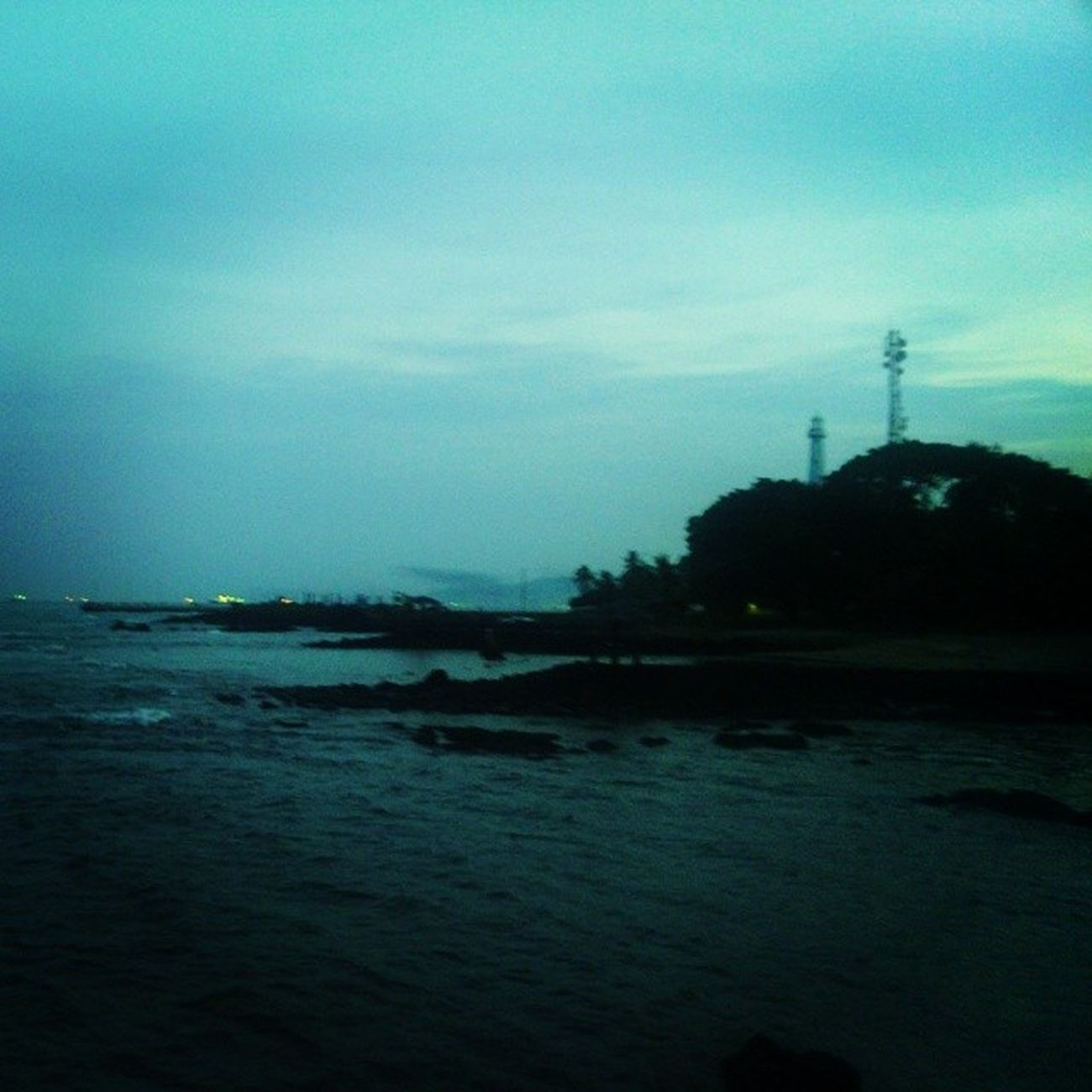 Mercusuar Beach Bay Anyer  Banten KarangBolong Indonesian Morning Blue