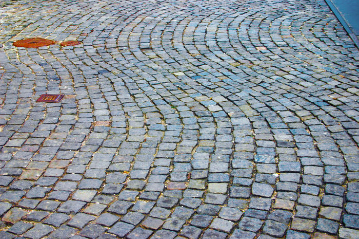 Backrounds Curving Road Floor Pattern Pattern, Texture, Shape And Form Stone Floor Stone Mosaic Stone Road Waiving