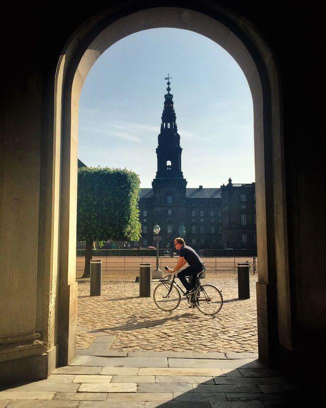 Biking Copenhagen Christiansborg
