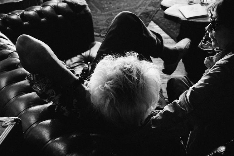 Couple Man Relaxing Adult Aging Like Fine Wine Bar Blackandwhite Close-up Day Drinking High Angle View Human Body Part Lifestyles Men Outdoors People Real People Sitting Still Young Style Togetherness Watching A Band White Hair Women Youth In Disguise
