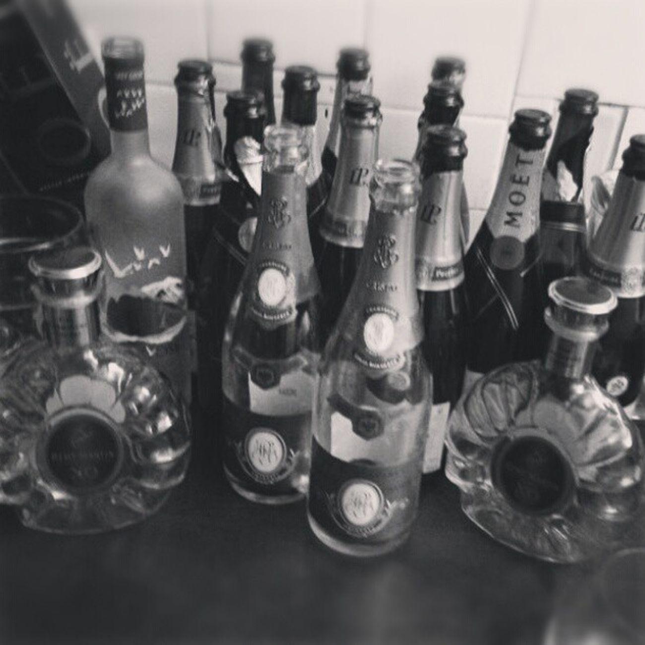 Maybe we should stop drinking. NYE Champagne Cognac Xo GreyGoose Moet LaurentPerrier Cristal LouisRoederer