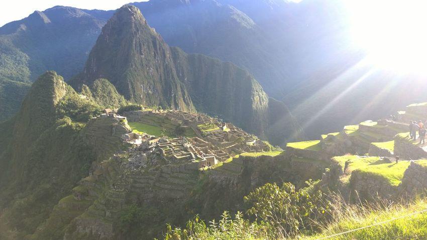 Early Morning Inca Machu Picchu Nature Seven Wonders Of The Modern World Sunlight Travel