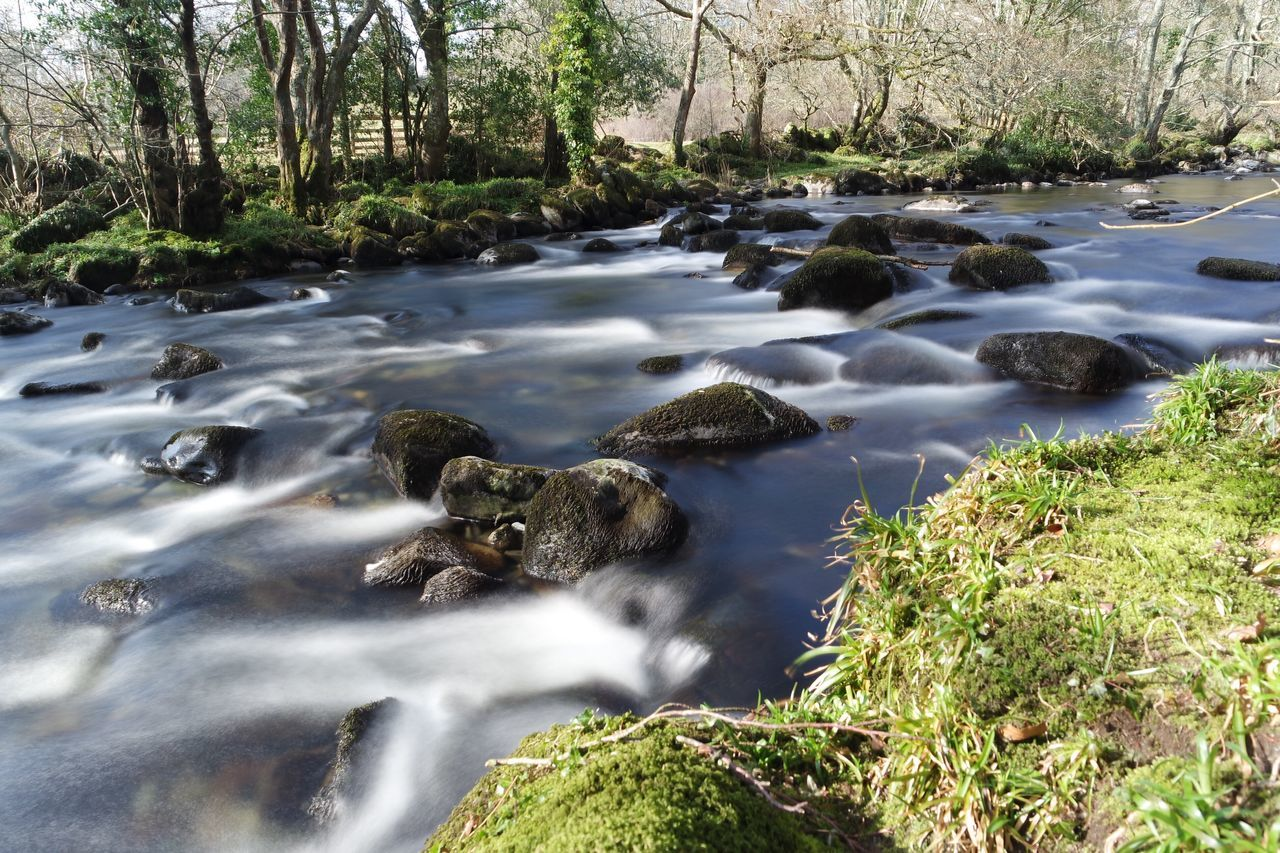 Afon Dwyfor River Long Exposure Smooth Water Wales Llanystymdwy North Wales