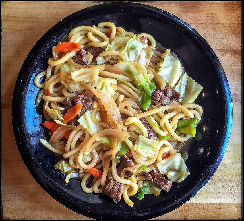 Beef Noodle Yaki Udon Japanese
