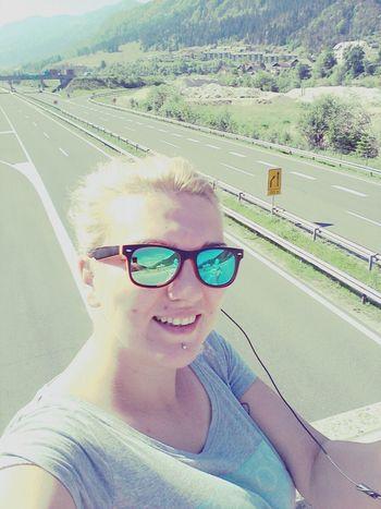 Selfie on the bridge :) behind me Highway Slovenia Jesenice ♥♥