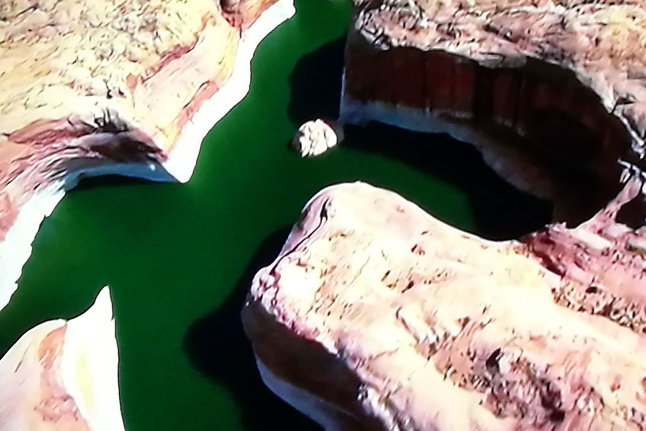High Angle View Nature Green Waters Steep Canyons Stratification Beautiful Landscape Wonders Of Nature