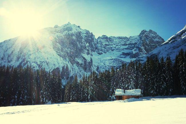 Enjoying Life Escaping Walking Around Dolomites, Italy
