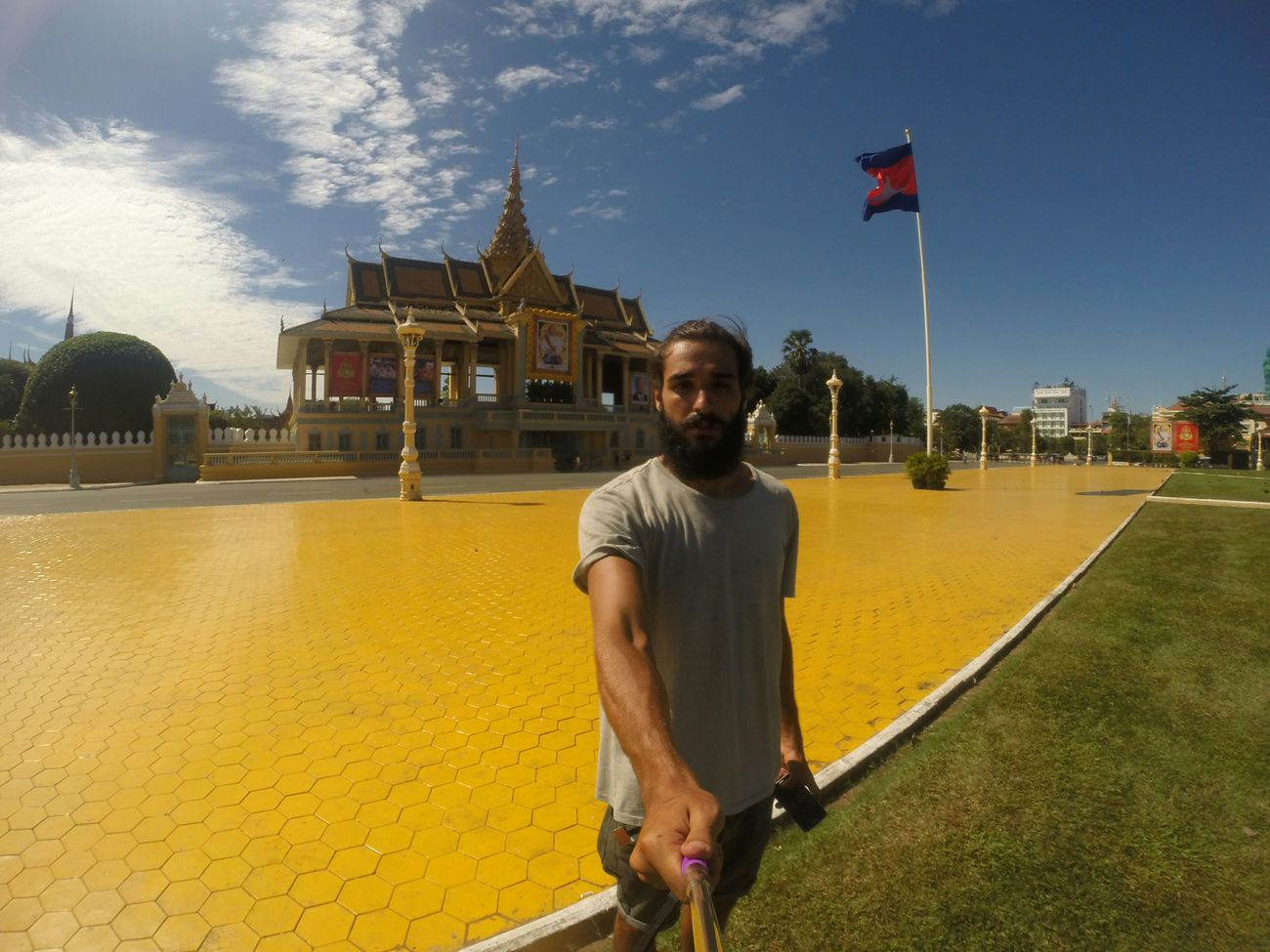 Trip to Cambodia Phnompenh Kingpalace Traveling Trip ASIA Selfie That's Me Portrait Gopro