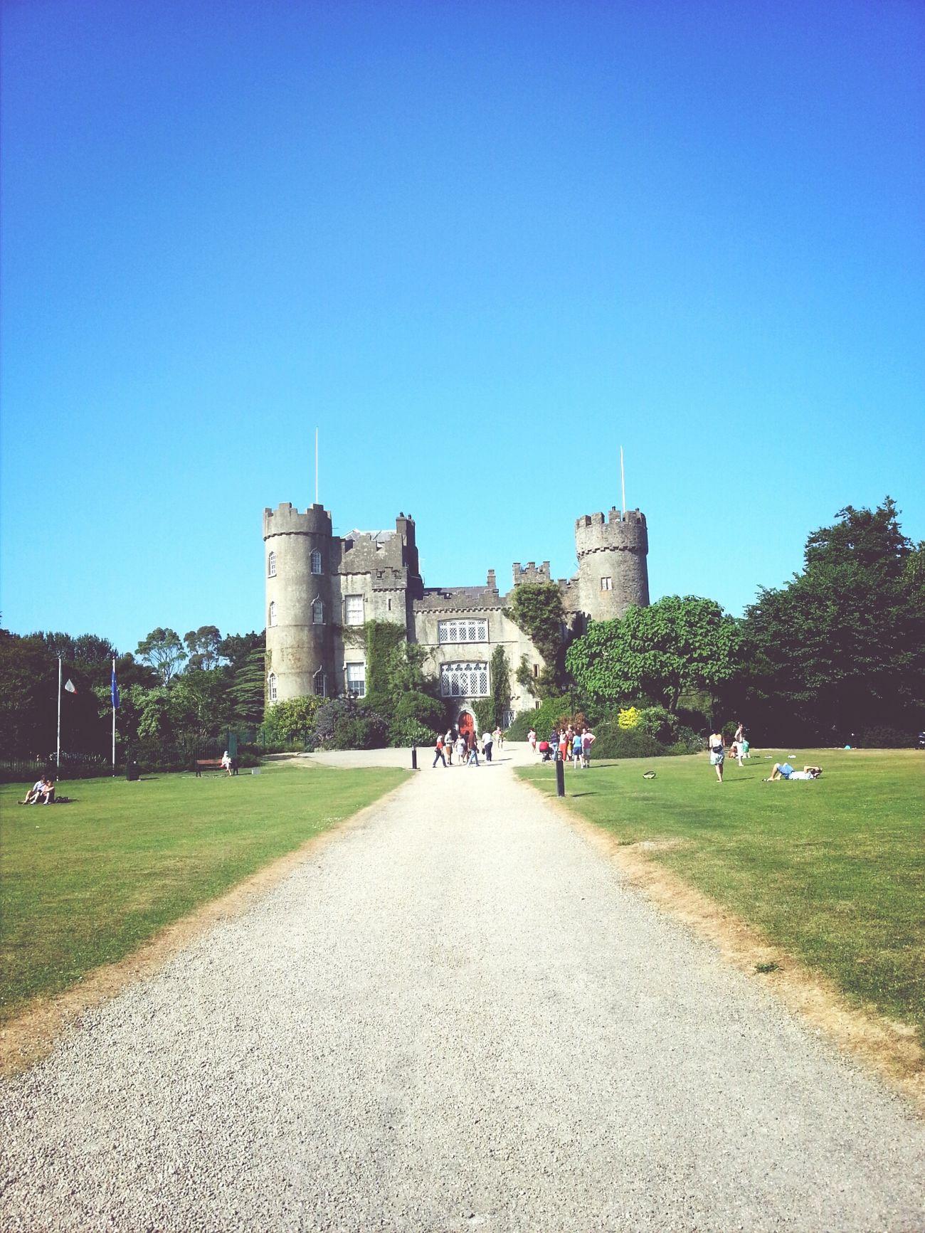 Castle Taking Photos Malahide  Blue Sky
