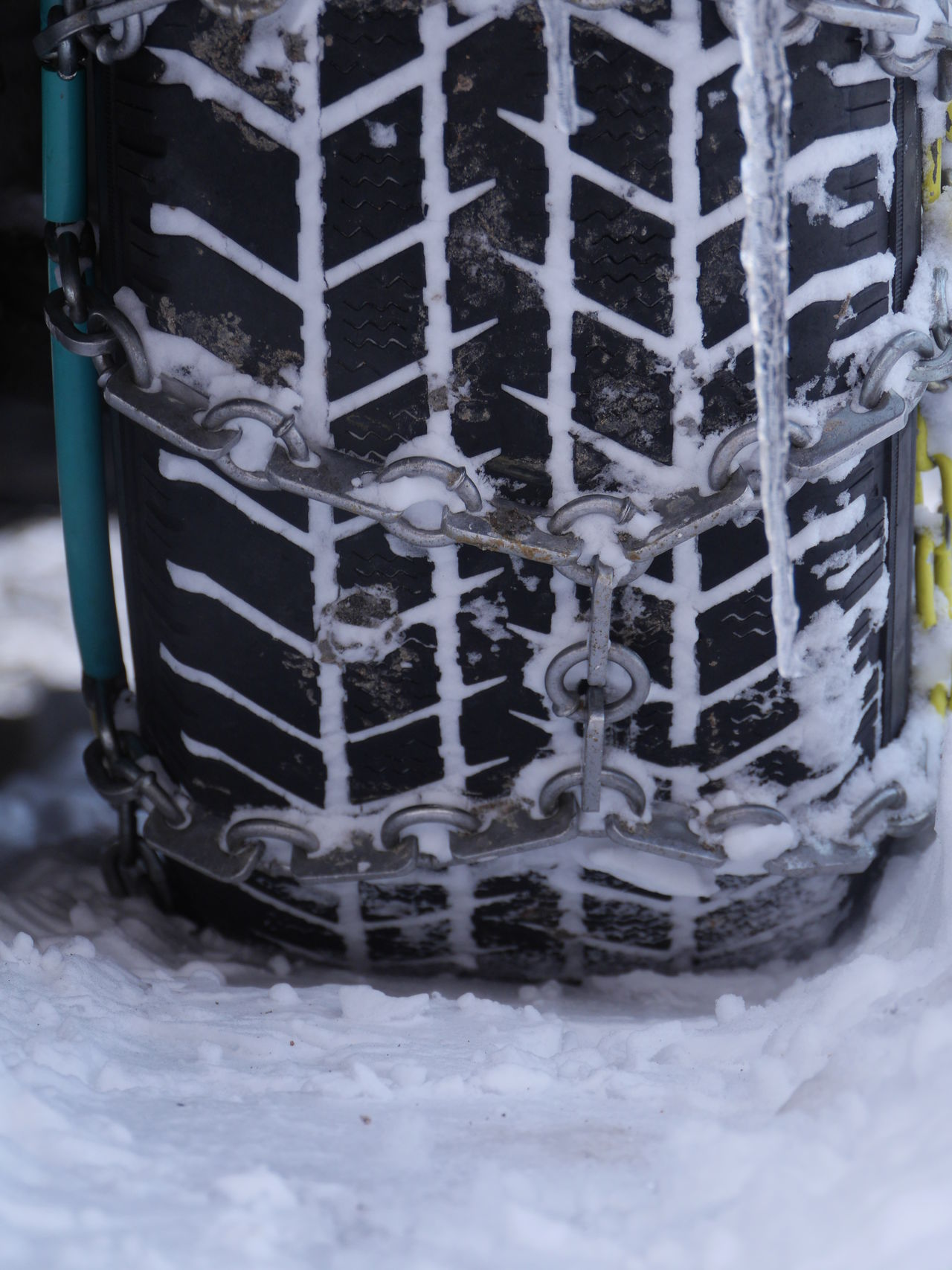 Chain Close-up Day Frost Ice Outdoors Security Snow Tire Transportation Tyre Winter Wintertime